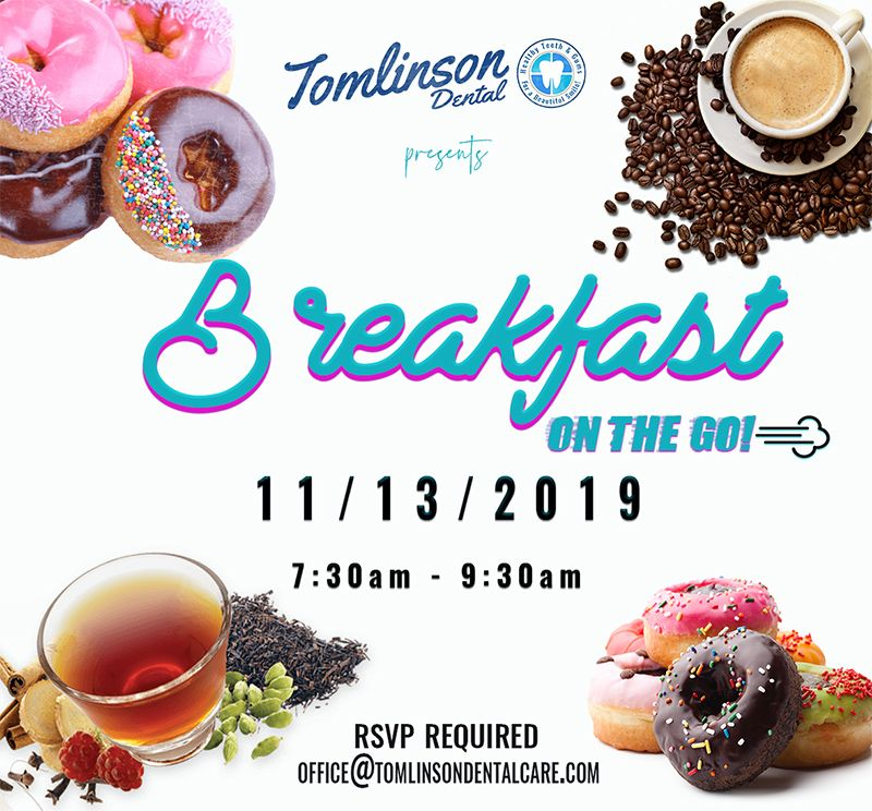 Flyer for Breakfast on the go