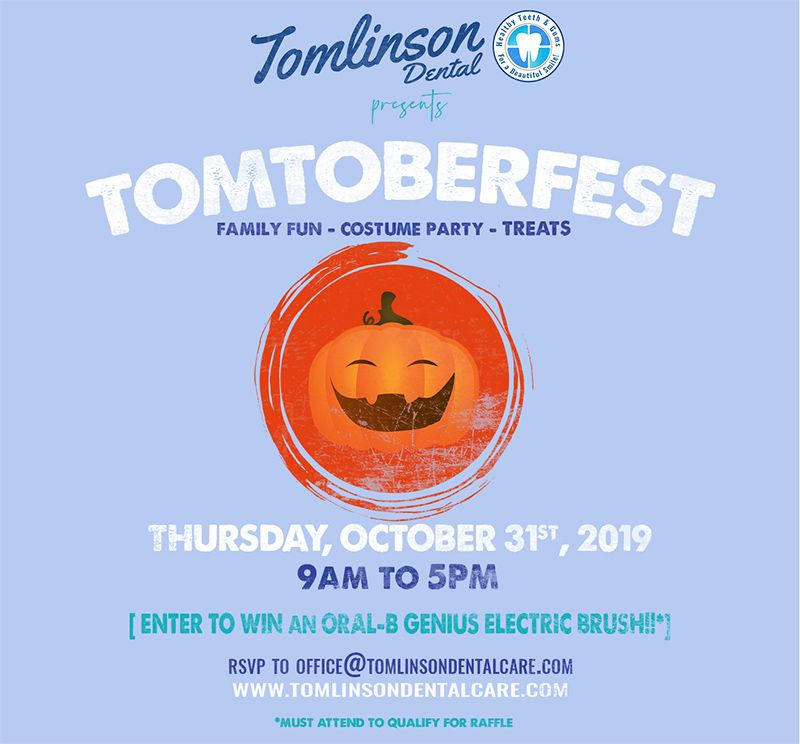 Flyer for tomtoberfest 2019 Oct. 31st 9AM to 5PM